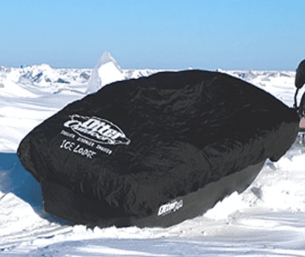 Cabin travel cover ice forts premier yetti fish house for Fish house supplies