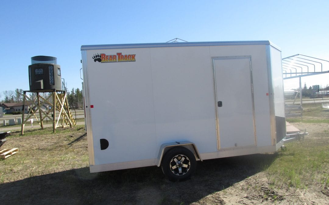 Bear Track Enclosed Trailer 6.5'x12′- Ramp Door 64″x76″
