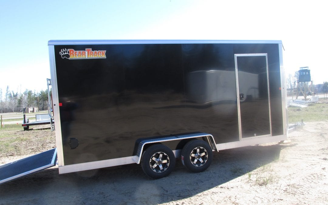 7'x16′ Tandem Bear Track trailer- White or Black